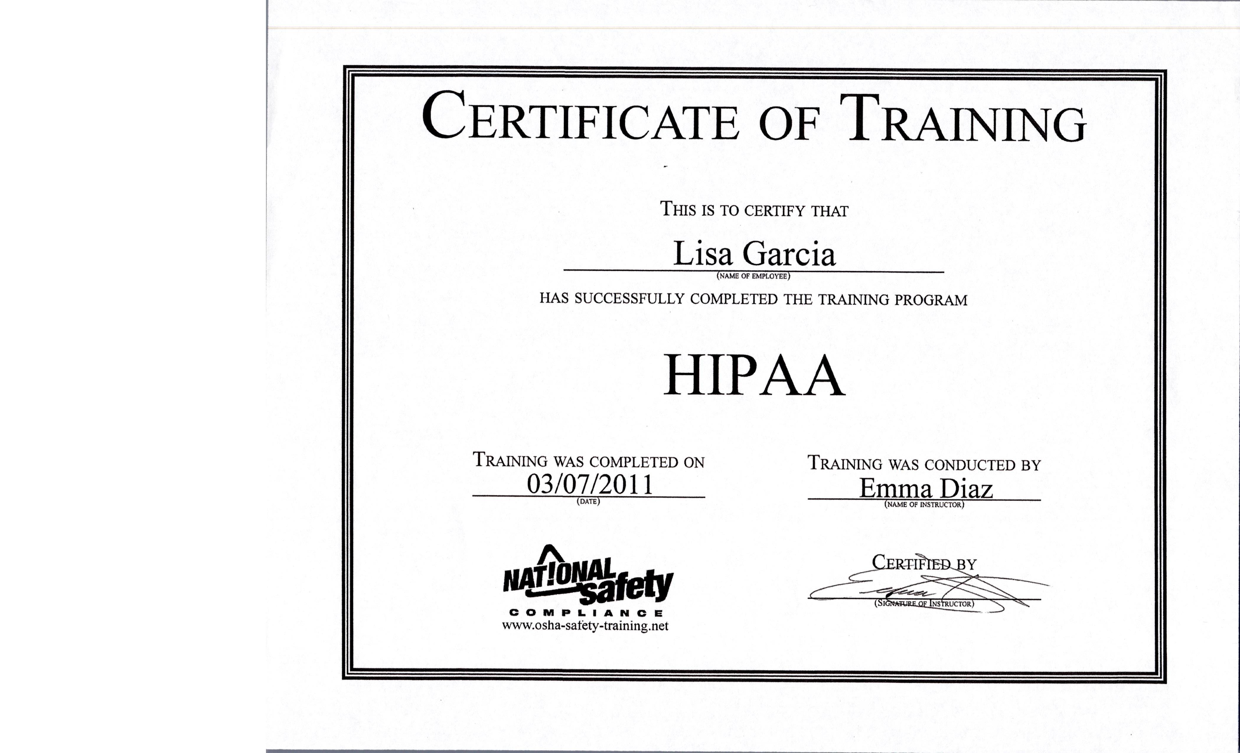 Awards And Certificates Lisa Garcia